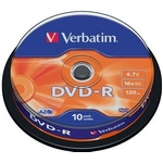 Verbatim DVD-R 4,7GB 16x, AZO, cakebox, 10ks